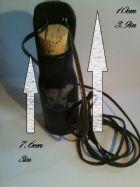 Black Leather Potion Bottle Skull & Lace